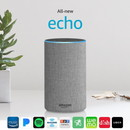 Amazon Echo (2nd gen) Alexa Personal Assistant Bluetooth Speaker [Heather Gray Fabric]