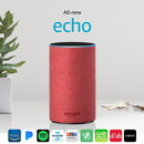 Amazon Echo (2nd gen) Alexa Personal Assistant Bluetooth Speaker [Limited Edition (RED)]