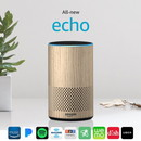Amazon Echo (2nd gen) Alexa Personal Assistant Bluetooth Speaker [Oak Finish]