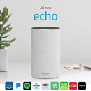 Amazon Echo (2nd gen) Alexa Personal Assistant Bluetooth Speaker [Sandstone Fabric]