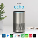 Amazon Echo (2nd gen) Alexa Personal Assistant Bluetooth Speaker [Silver Finish]