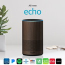Amazon Echo (2nd gen) Alexa Personal Assistant Bluetooth Speaker [Walnut Finish]